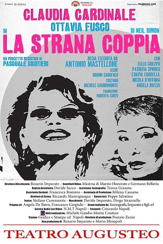"""Claudia Cardinale e Ottavia Fusco al Teatro Augusteo con """"La stana coppia"""""""