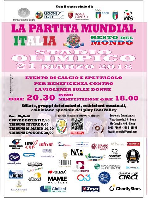 Italia-Resto del Mondo, la partita mundial in difesa delle donne