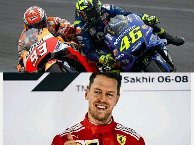 Vettel vince in Bahrein, Marquez centra Valentino Rossi in Argentina