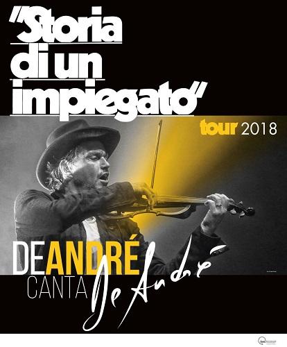 """Cristiano De Andrè annuncia le prime date del Tour """"Storia di un impiegato"""""""