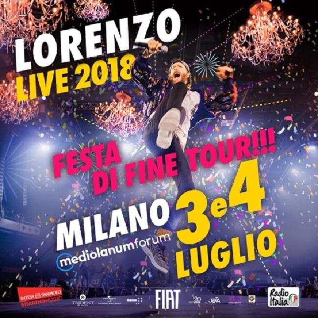 Lorenzo Live 2018 arriva a Roma dal 19 aprile con 10 nuove repliche
