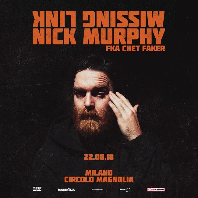 Nick Murphy fka Chet Faker Live il 22 agosto a Milano