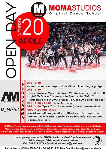 Moma Studios di Milano annuncia l'Open Day il 20 aprile