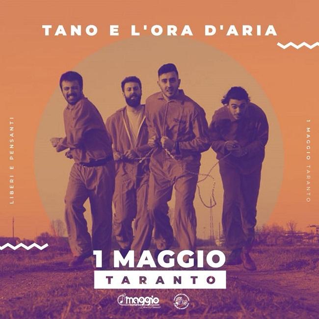 Tano e l'Ora D'Aria Live sul palco dell'#UnoMaggioTaranto