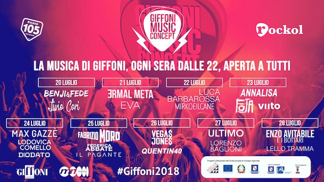 Giffoni Film Festival 2018: spazio alla musica con Giffoni Music Concept