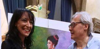 """Ester Campese a Venezia opera """"Letture e Pensieri gradita da Sgarbi"""