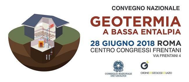 Geotermia a Bassa Entalpia convegno a Roma