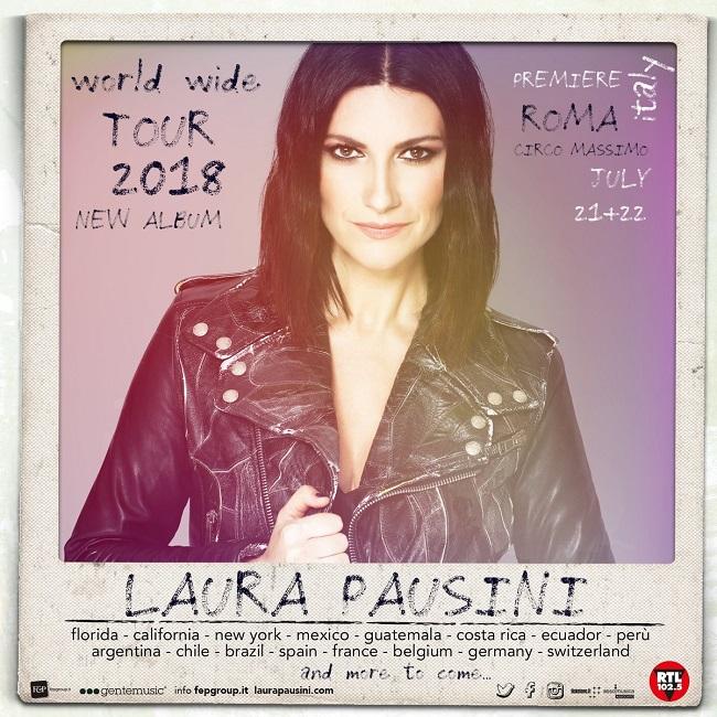 Laura Pausini Live il 21 e 22 luglio sul palco del Circo Massimo di Roma