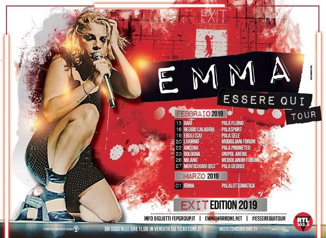 Emma Essere qui Tour 2019 date biglietti concerti