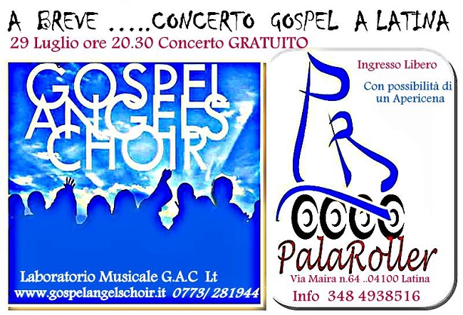Gospel Angels Choir concerto 29 luglio Latina