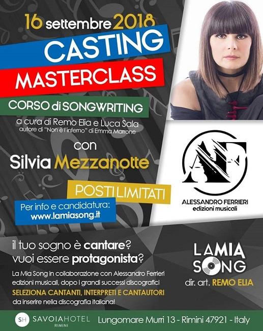Rimini Casting per nuovi interpreti della canzone Silvia Mezzanotti