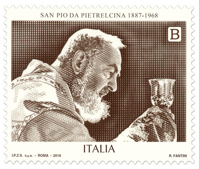 francobollo San Pio da Pietralcina