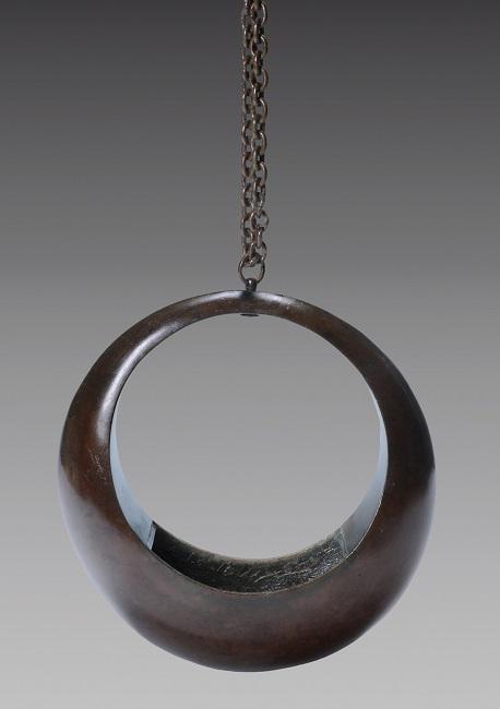vaso sospensione in bronzo