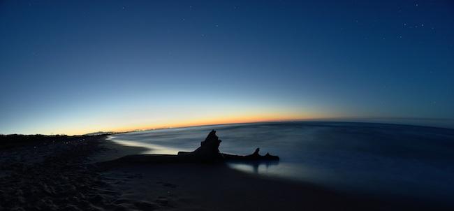 tramonto su marina di Chieuti