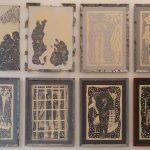 l'evoluzione dell'uomo materiale ferro cartone vegetale acrilico