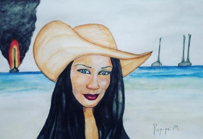 l'inconsapevole donna col cappello
