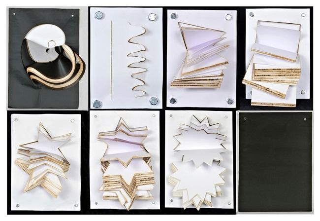 ottava geometrica legno carta da fotocopia bulloni di ferro vetro