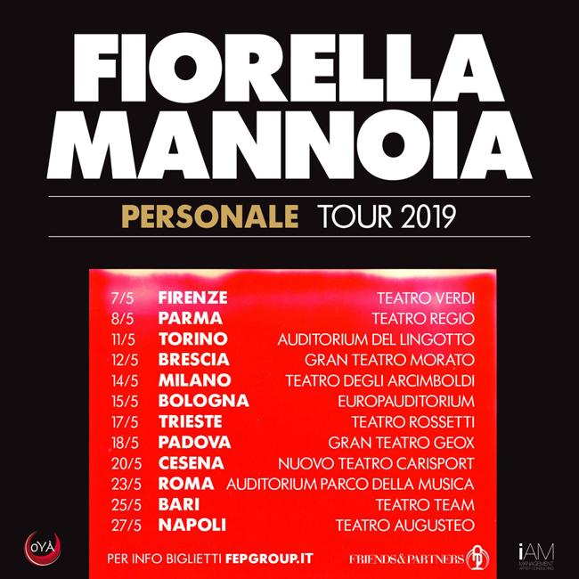 Fiorella Mannoia date tour 2019