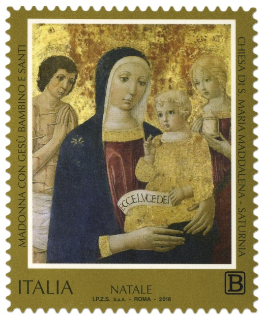 francobollo natale 2018