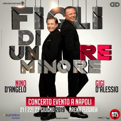 Slitta a Settembre il concerto di Gigi D'Alessio e Nino D'Angelo