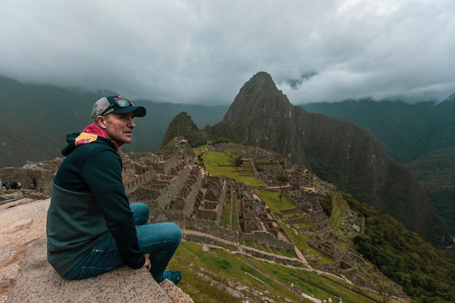 Stéphane Peterhansel en Machu Picchu ©PromPerù