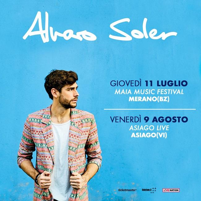 Alvaro Soler tour 2019
