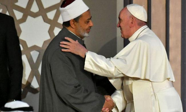 papa francesco sheikh ahmed al tayeb