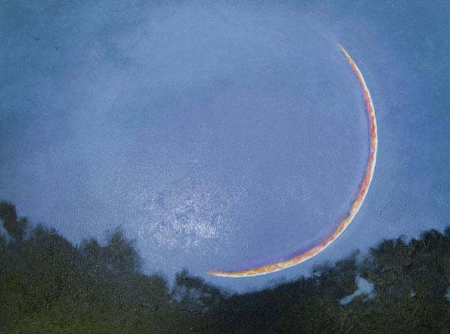 un filo di luna