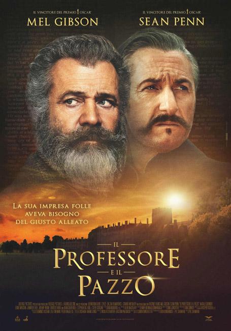 il professore e il pazzo locandina film