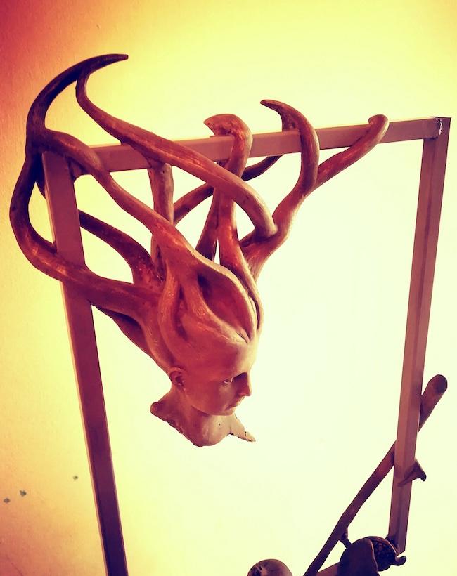 Kore 3.0, 2018, Ferro e gesso patinato, h 50 cm - l 35 cm circa, sede Ass. Centro Studi Grecofono - Gallicianò R.C.