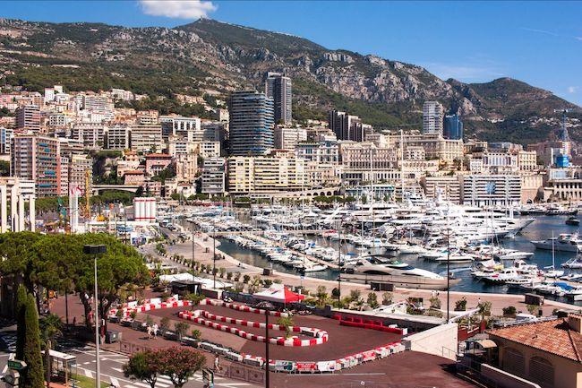 Monte Carlo vista porto pista