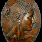 Simona, 2006, bronzo, h 55 cm - l 38 cm, collezione privata.