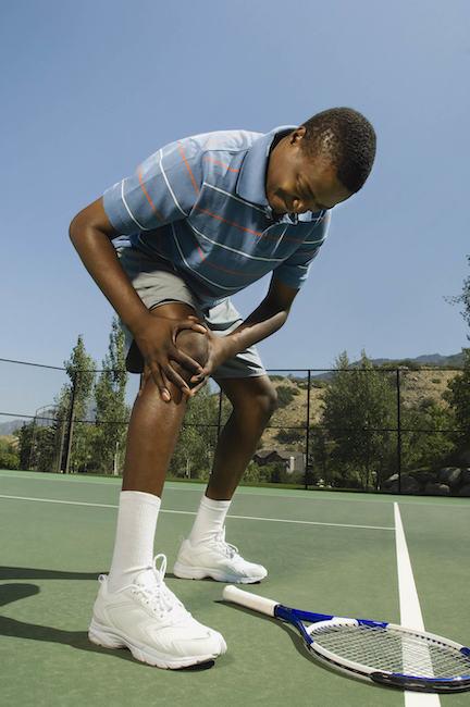 tennista infortunato