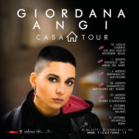 Giordana Angi in concerto casa tour 2019