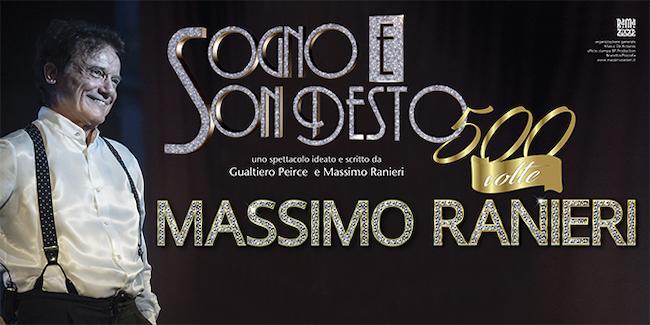 """Ranieri torna nei teatri con """"Sogno e son desto 500 volte"""""""