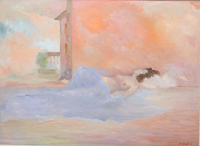 Sogno di donna - 1981 - olio su tavola - 39 x 52,5