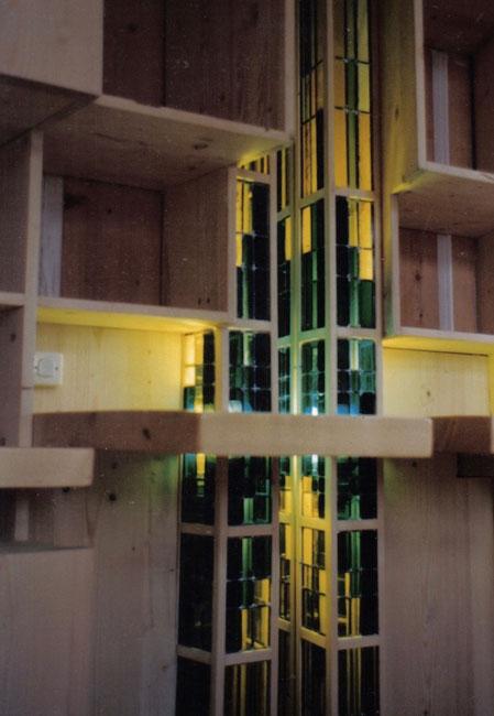 armadio con lampada in vetro ruhberg