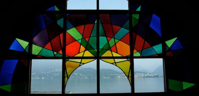 il tramonto di pitagora vetrata