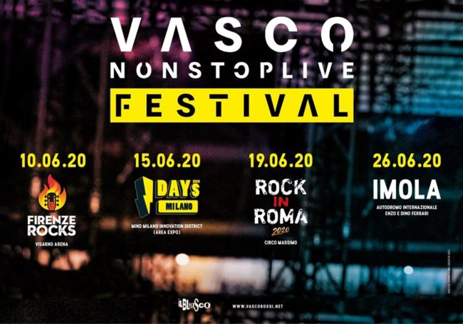 Vasco Rossi in concerto a Imola: nell'estate 2020 un grande live all'Autodromo