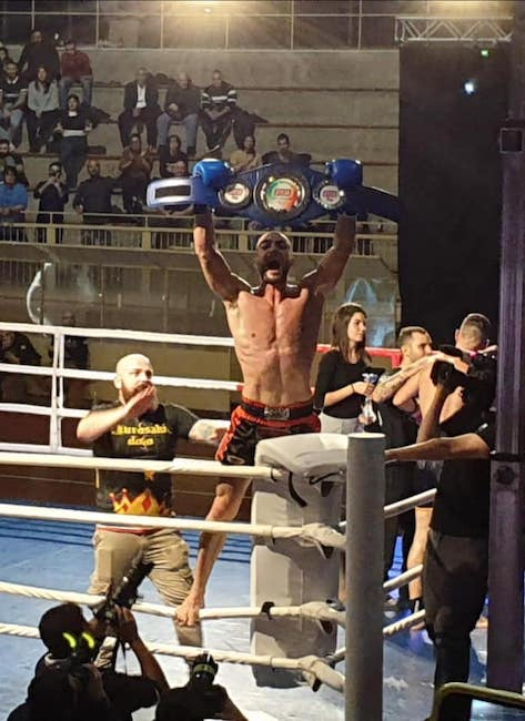 Marco Schembri vince il titolo italiano pro fcr di Muay Thai k1
