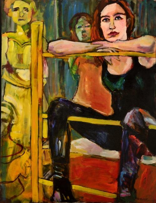 La peintre in her Art Studio (Je pose donc je suis)