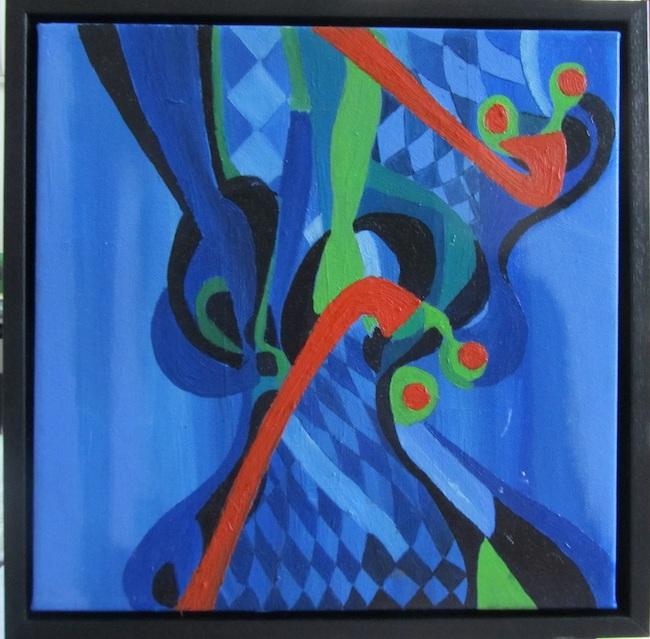 azzurro geometrico