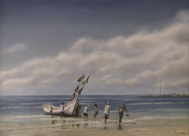 fishermans old times painting