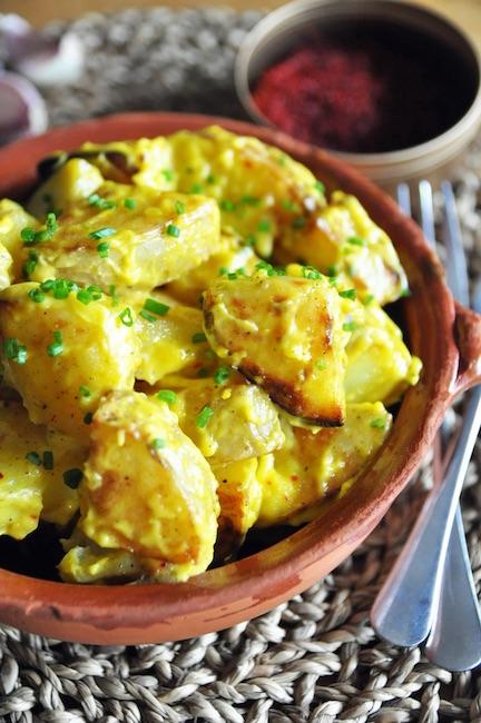 patate e salsa zafferano