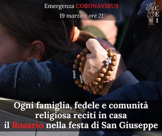 recita rosario 19 marzo 2020