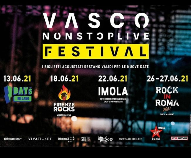 Firenze Musica Rock Festival Vasco Rossi Red Hot Chili Peppers Estate 2021