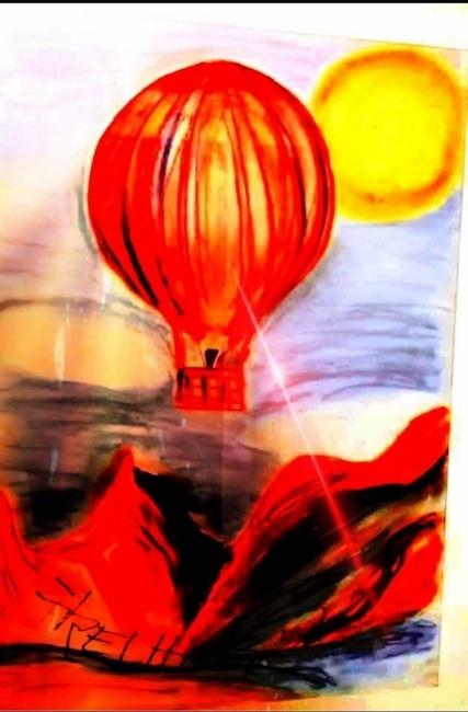 abheben mit baloon