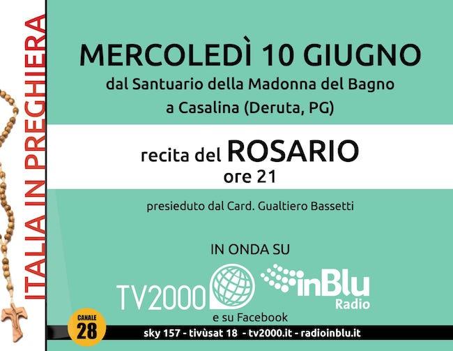 rosario italia in preghiera 10 giugno 2020