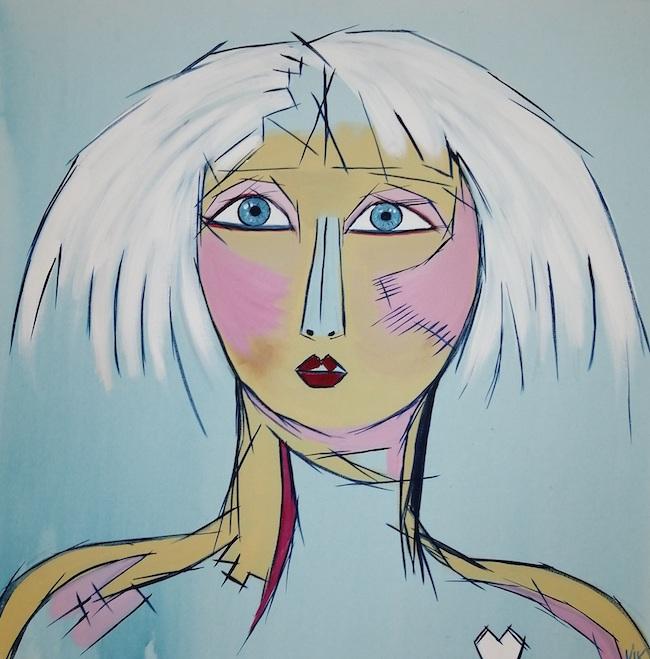 Femme de coeur glace