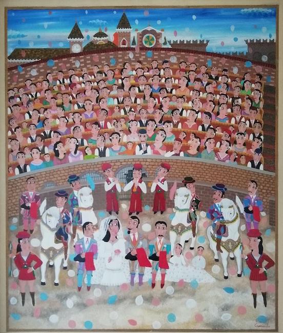 matrimonio del torero nell'arena